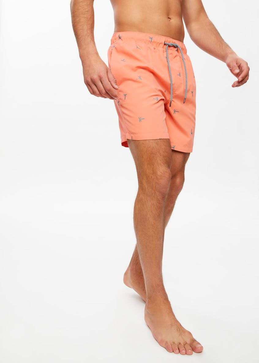 Palm Embroidered Swim Shorts