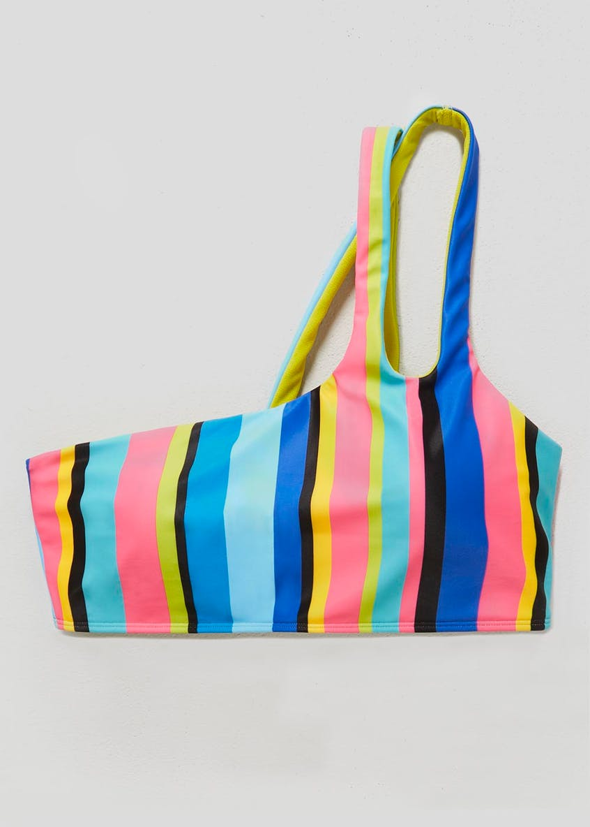 Rainbow One Shoulder Bikini Top