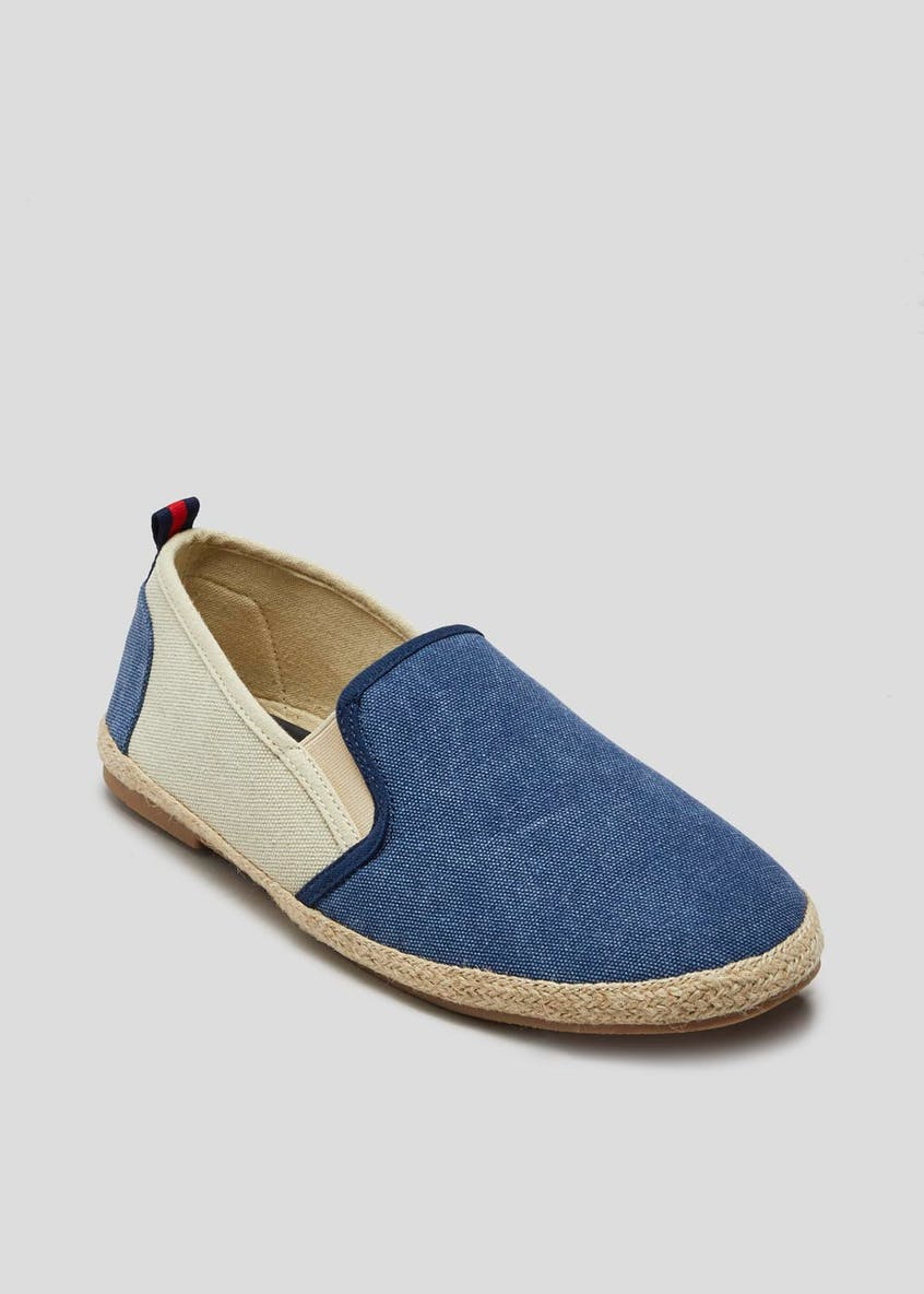 Slip On Two Tone Espadrilles