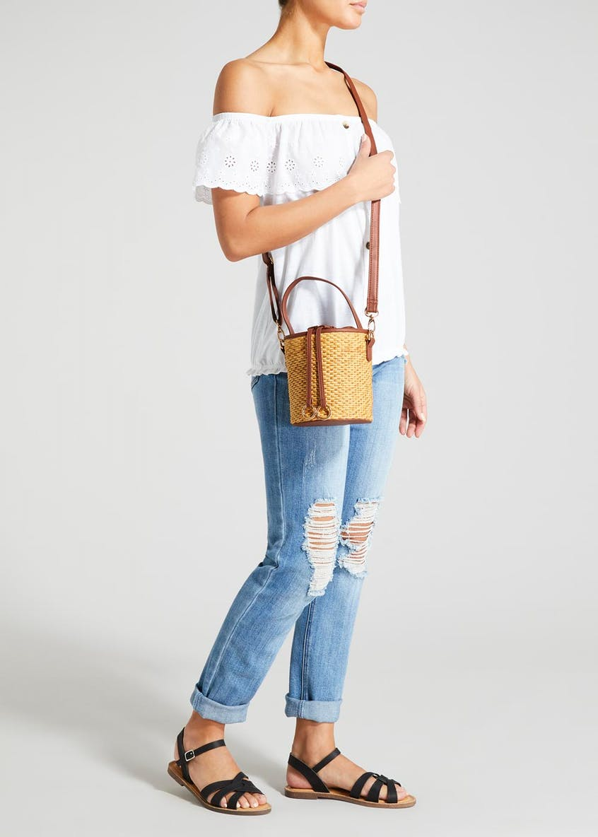 Straw Mini Bucket Bag