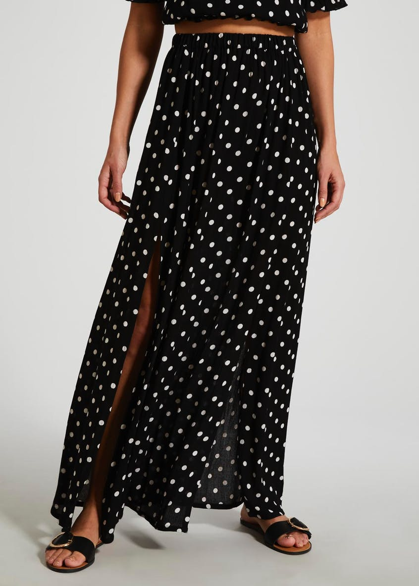 Polka Dot Co-Ord Maxi Skirt