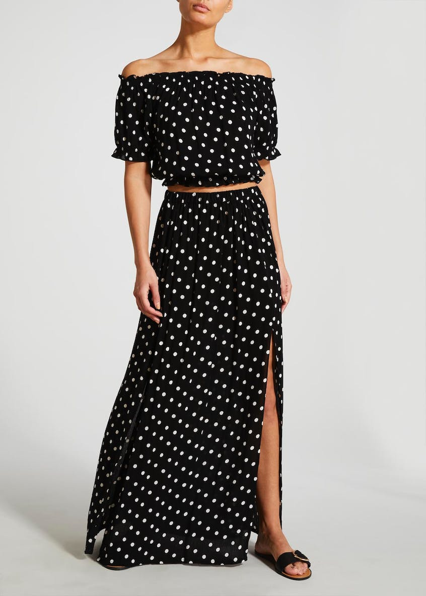 Polka Dot Co-Ord Gypsy Top