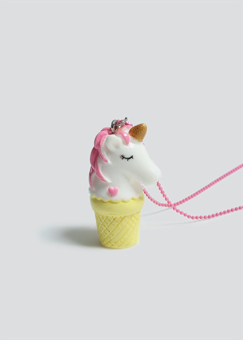 Girls Ice Cream Unicorn Pendant