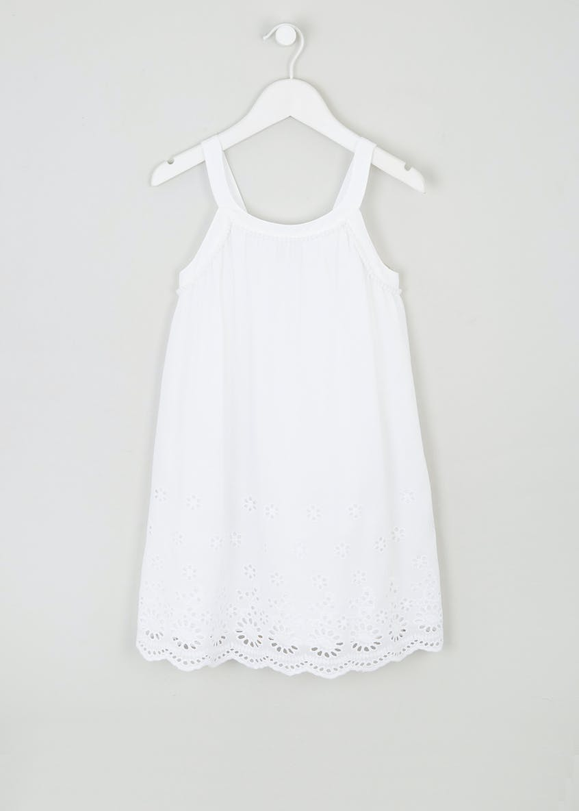 Girls Broderie Anglaise Dress (4-13yrs)