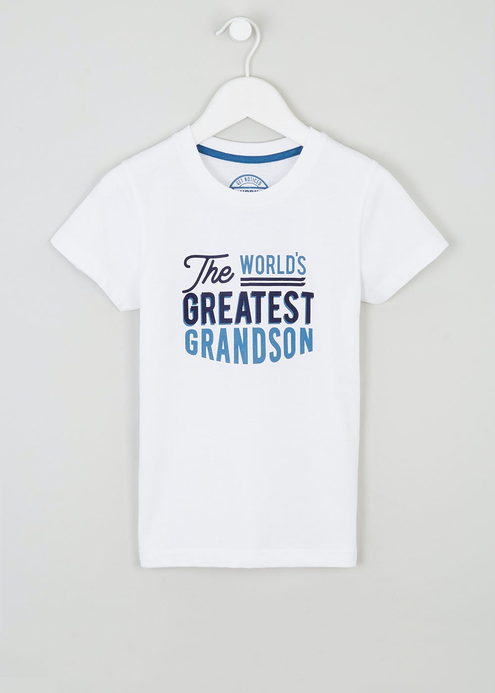 f0512f071 Boys World's Greatest Grandson Slogan T-Shirt (4-10yrs) – – Matalan