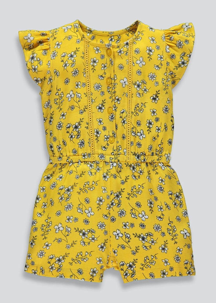 Girls Floral Playsuit (9mths-6yrs)