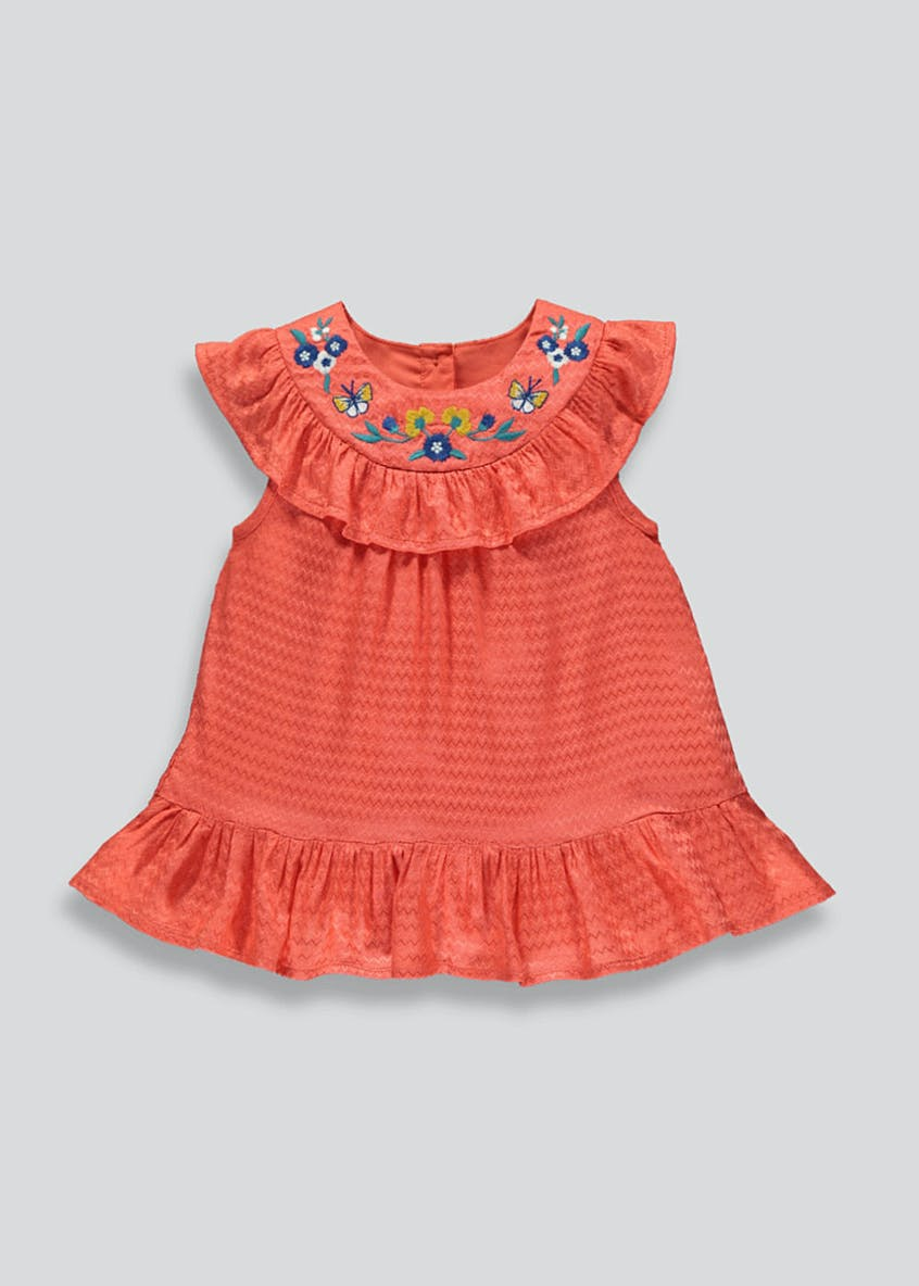 Girls Embroidered Woven Top (9mths-6yrs)