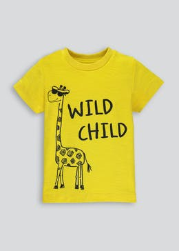 Kids Wild Child Slogan T-Shirt (9mths-6yrs)