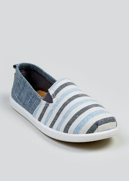 Kids Slip On Canvas Pumps (Younger 10-Older 6)