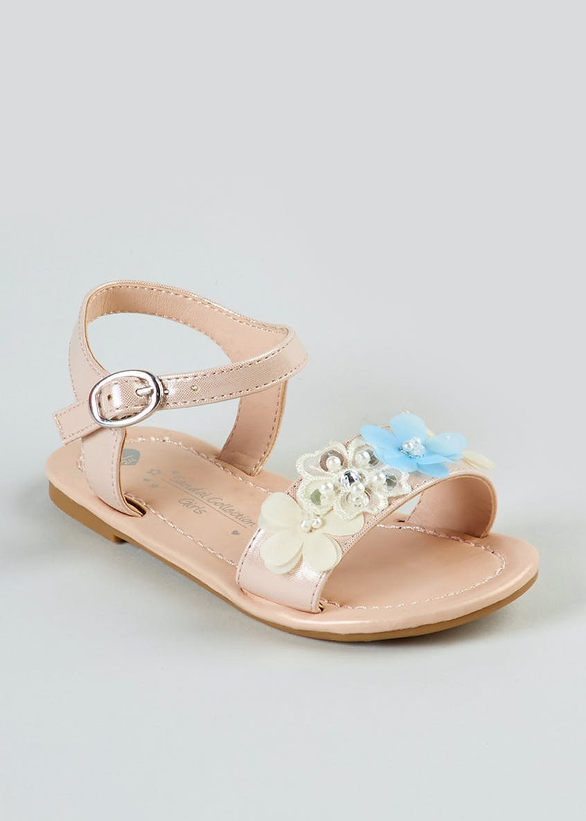 Girls Flower Occasion Sandals (Younger 4-12)