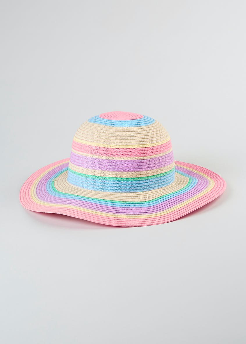 Girls Rainbow Floppy Hat (4-13yrs)