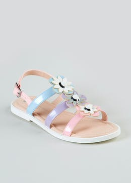 2f73a541580a Girls Floral Stud Sandals (Younger 10-Older 5)