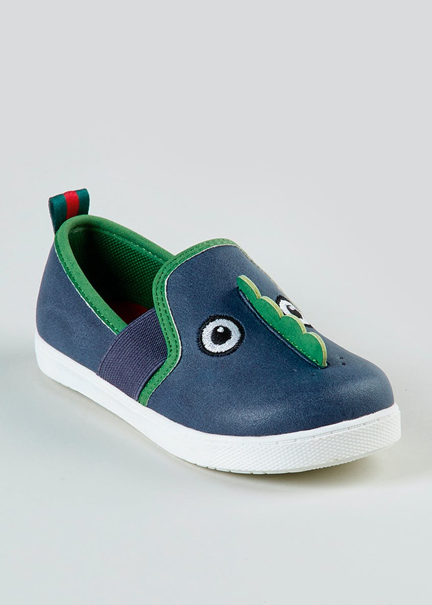Boys 1st Walkers Dinosaur Slip On Shoes (Younger 3-9)