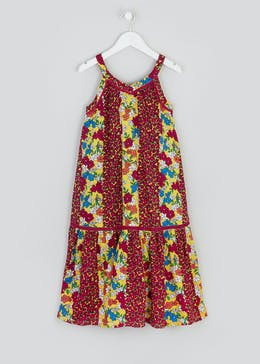 Girls Floral Tiered Maxi Dress (4-13yrs)