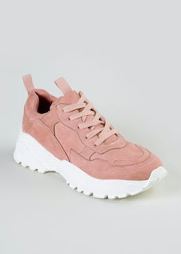 Faux Suede Chunky Trainers