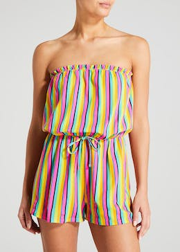 Stripe Print Bandeau Playsuit