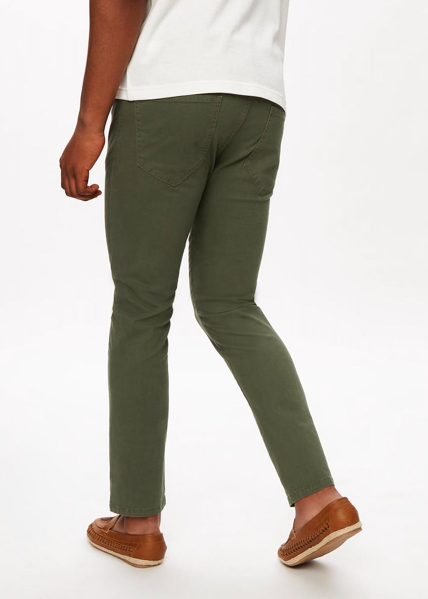 Slim Fit Stretch Twill Trousers