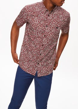 Short Sleeve Ditsy Floral Shirt
