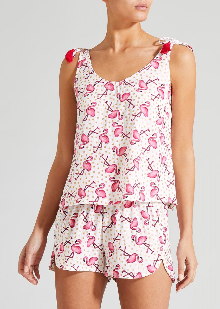 Flamingo Print Short Pyjama Set