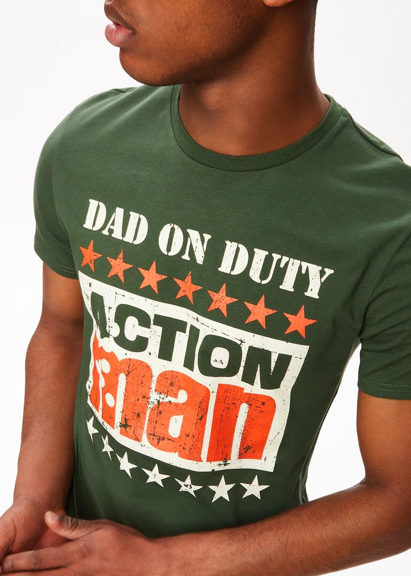 Action Man Dad on Duty Slogan T-Shirt