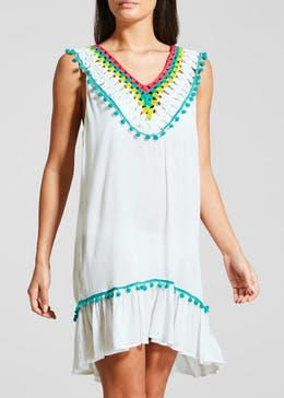 Crochet Detail Sun Dress