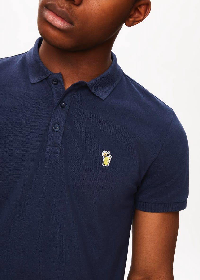 Embroidered Badge Slim Fit Polo Shirt