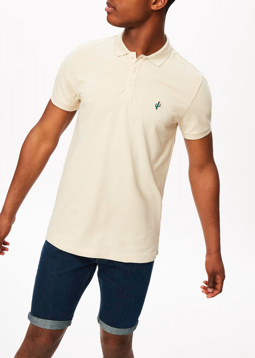 Embroidered Badge Polo Shirt