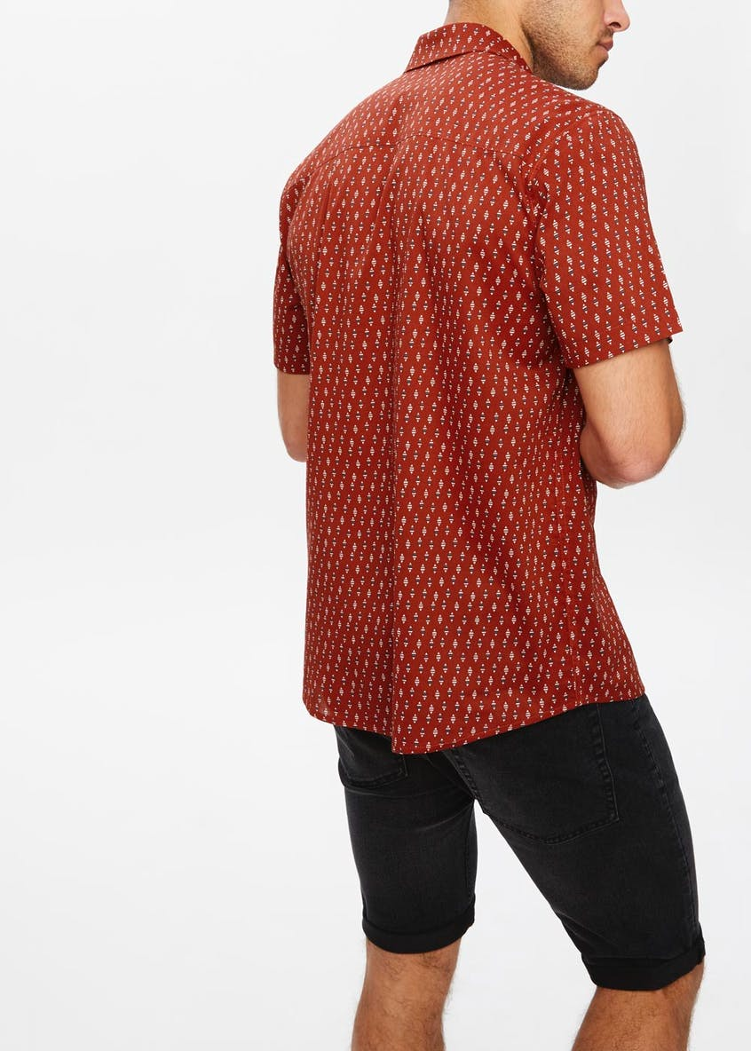 Short Sleeve Tribal Print Shirt