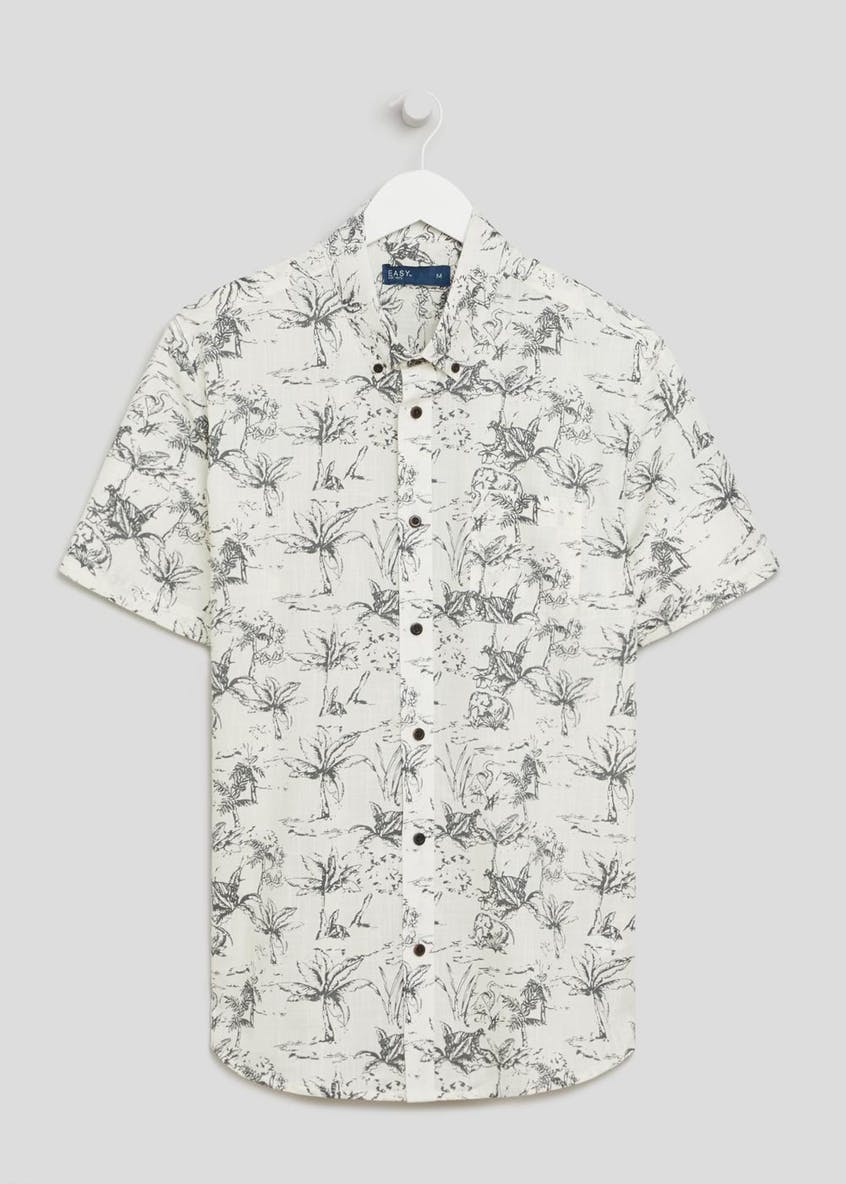 Short Sleeve Animal Print Shirt