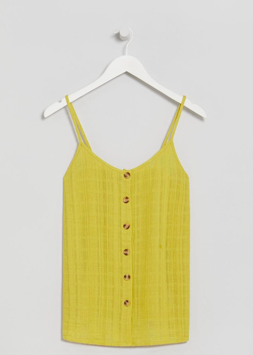 Button Front Textured Cami