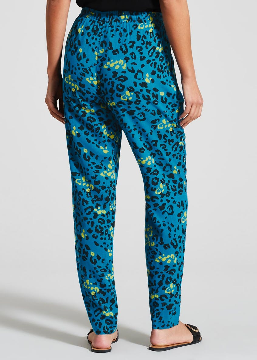 Animal Print Tapered Trousers
