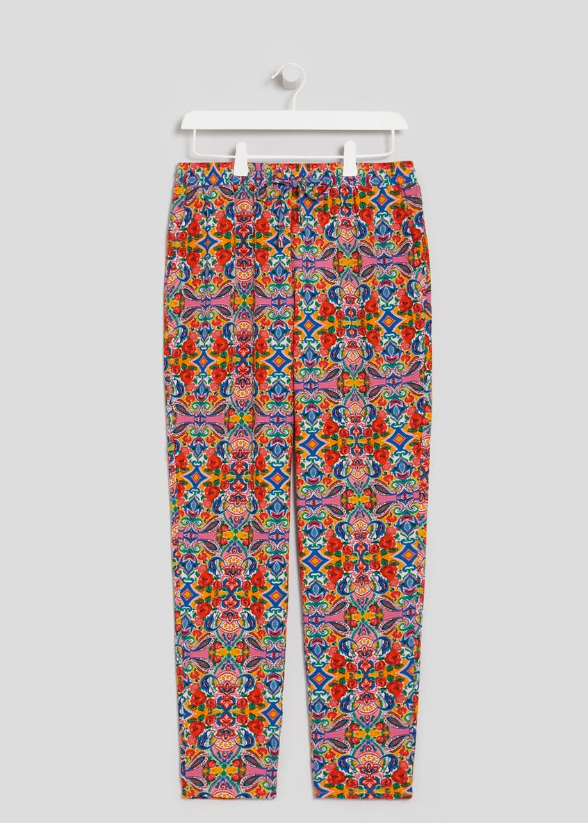 Tile Print Tapered Trousers