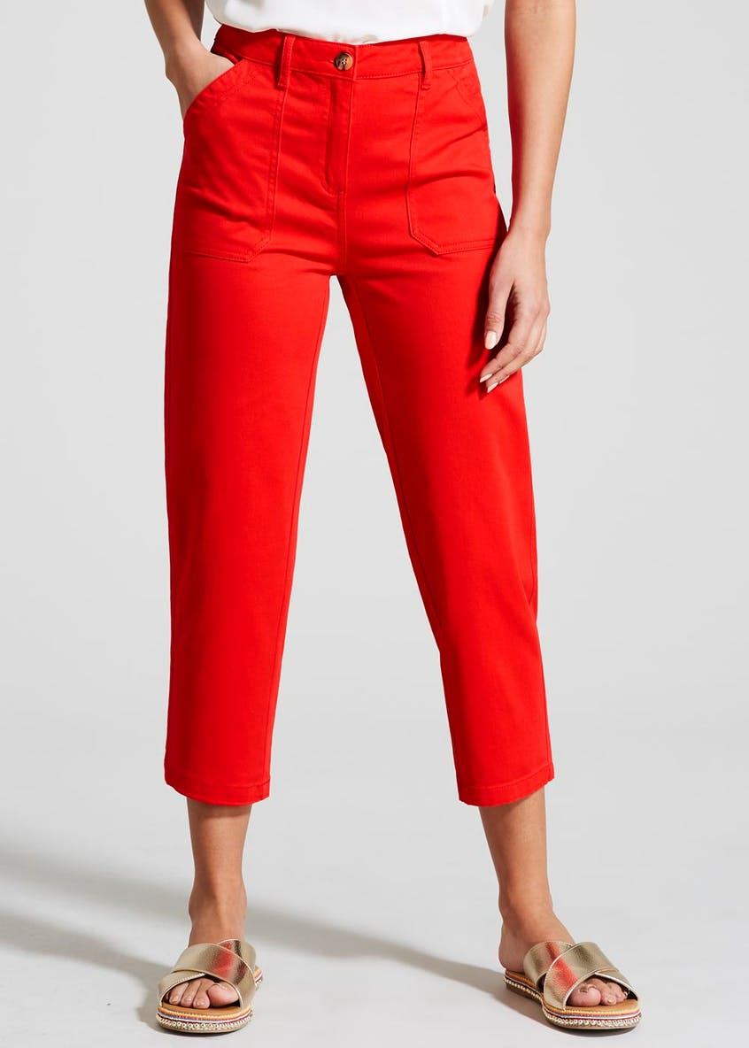 Casual Cropped Trousers