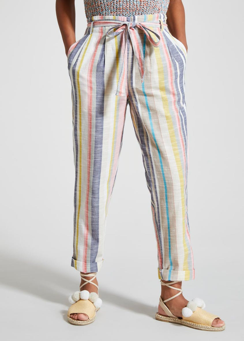 Stripe Tapered Trousers