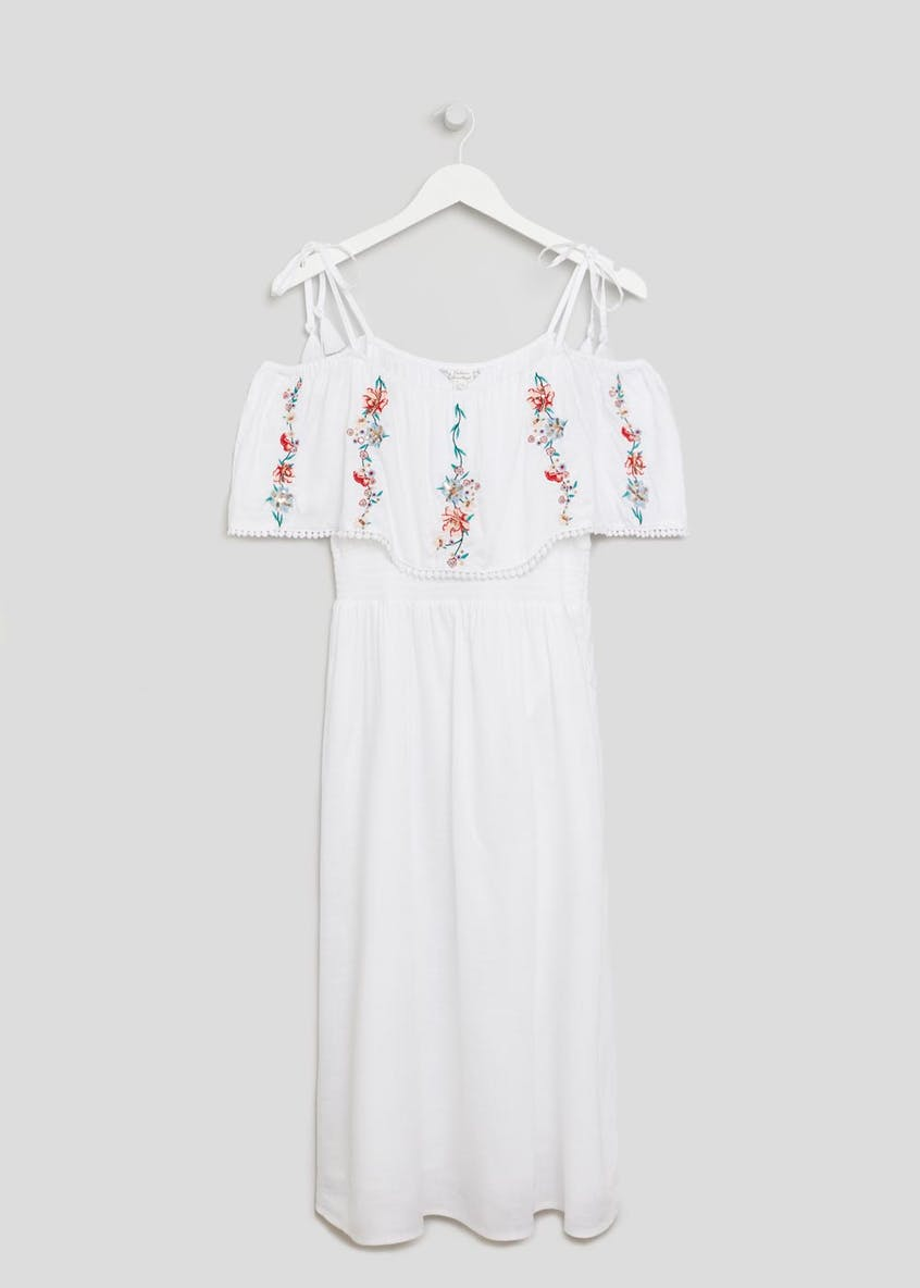 Falmer Layered Embroidered Midi Dress