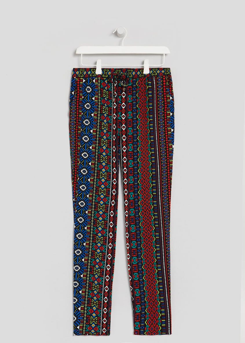 Aztec Print Tapered Trousers