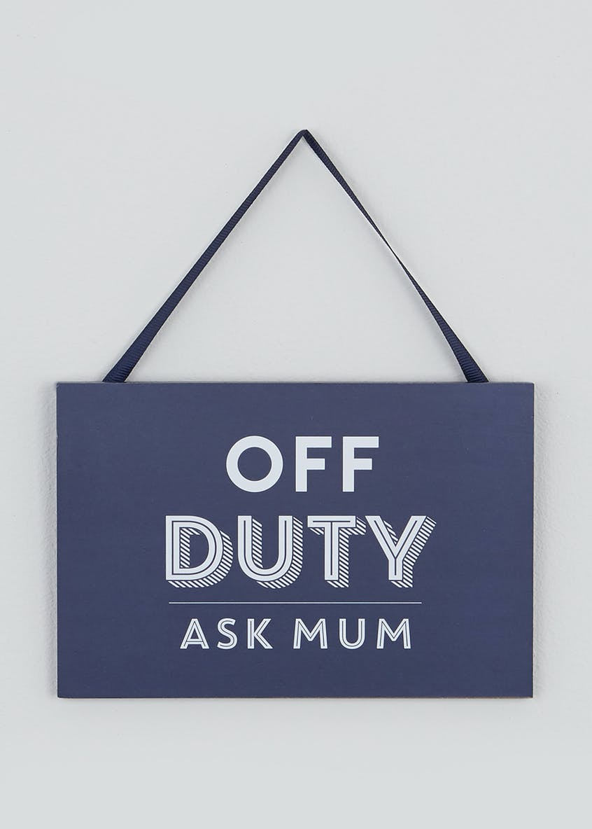 Off Duty Dad Slogan Plaque (18cm x 12cm x 1cm)