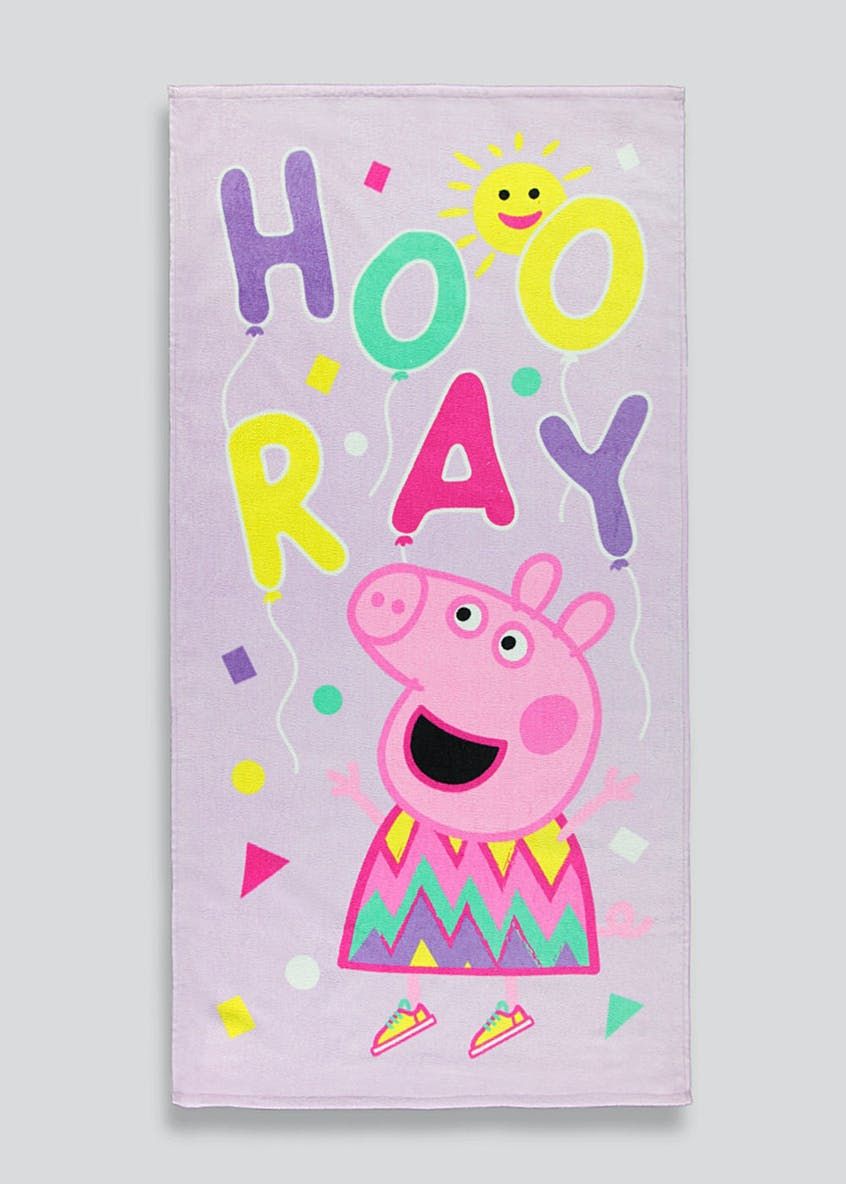 Kids Peppa Pig Beach Towel (140cm x 70cm)