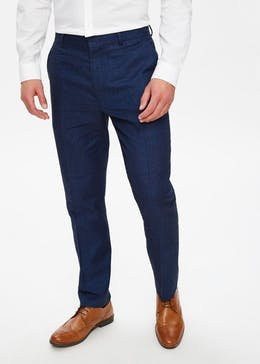 Bennet Linen Slim Fit Suit Trousers