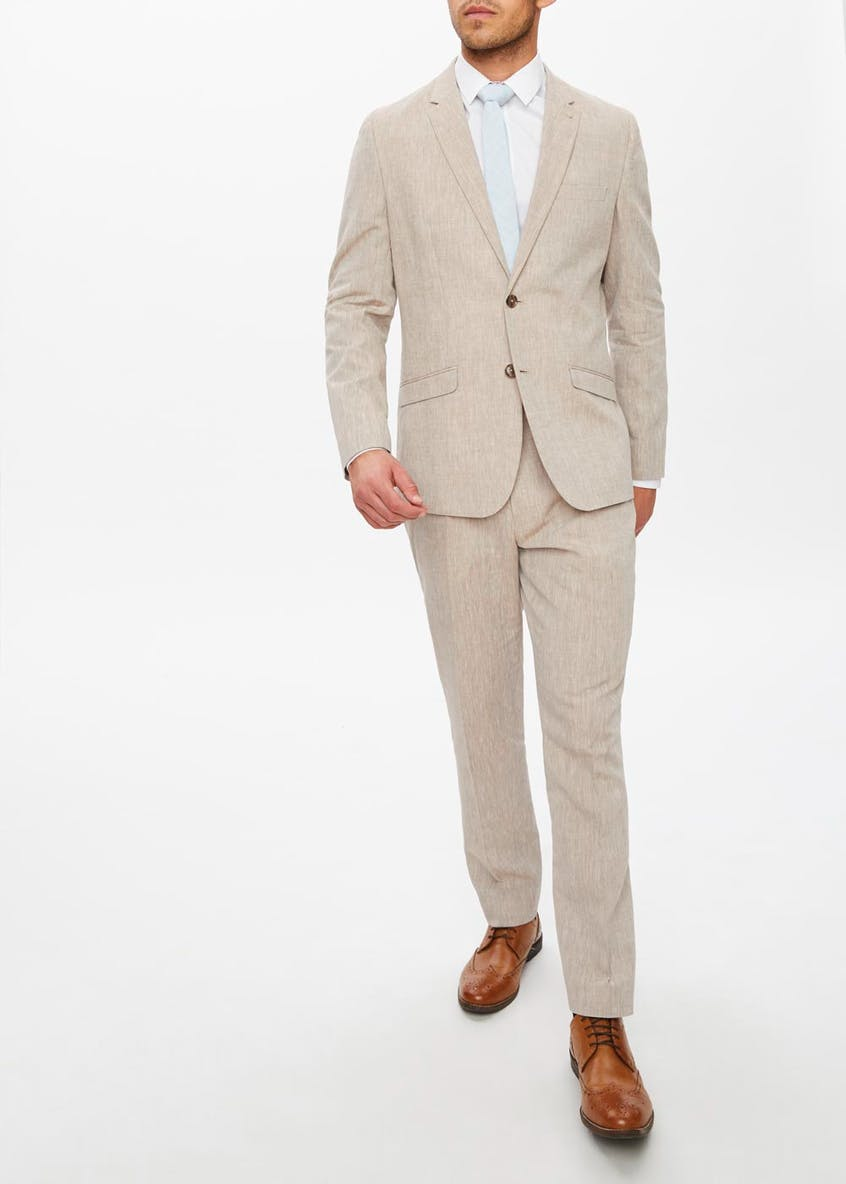 Drayton Linen Slim Fit Suit Trousers