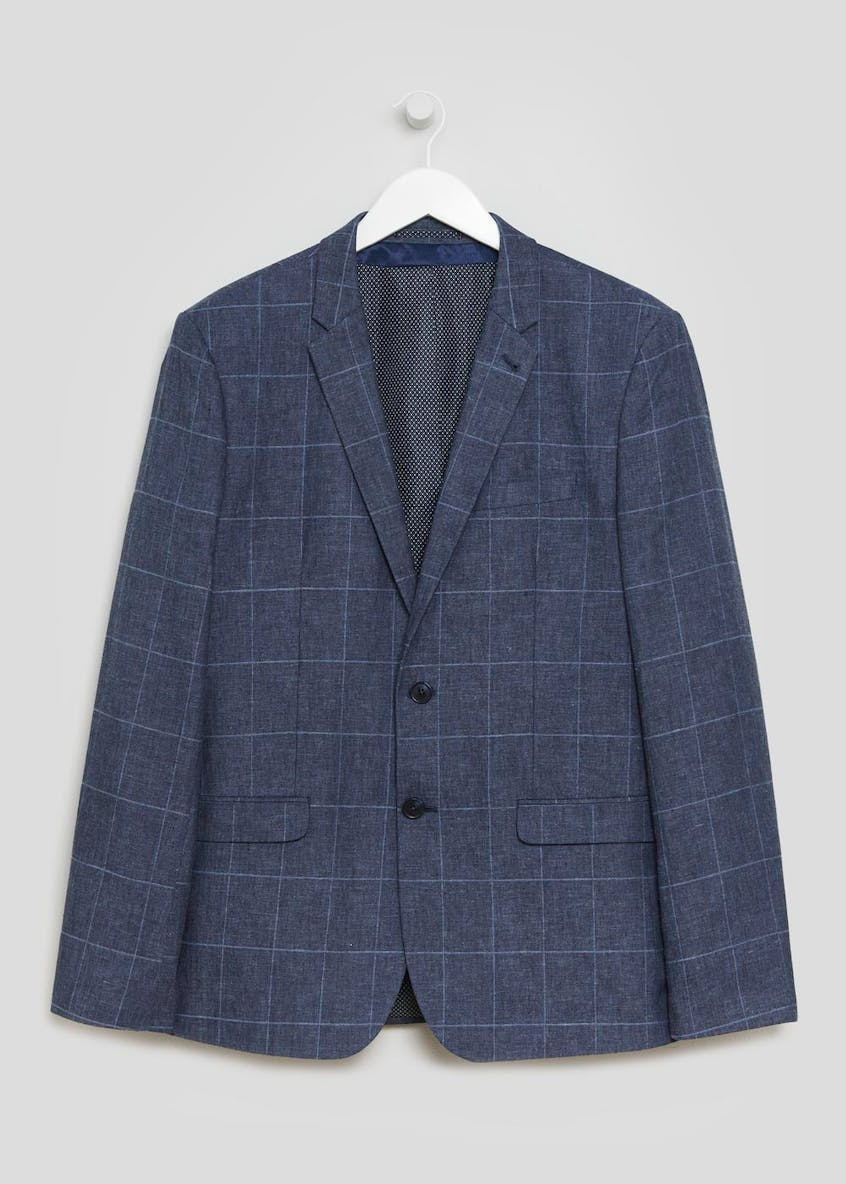 Taylor & Wright Langdon Linen Check Slim Fit Blazer