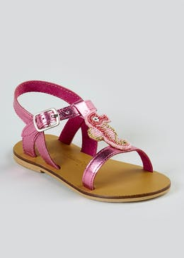 Girls Real Leather Seahorse Sandals (Younger 4-12)