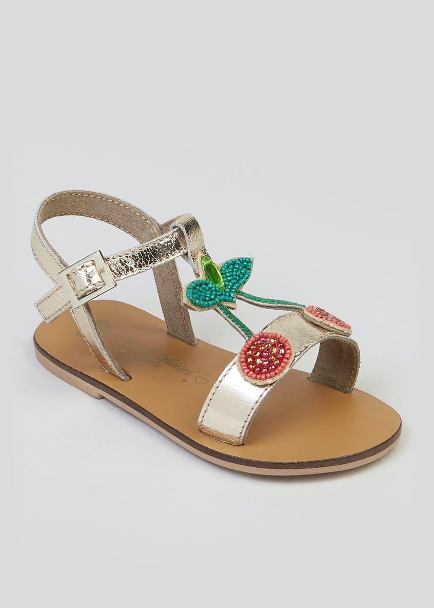 Girls Real Leather Cherry Sandals (Younger 10-Older 5)