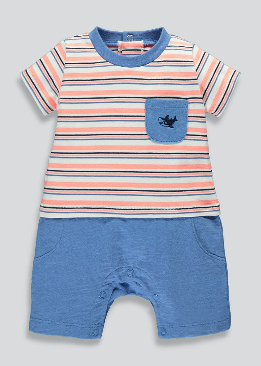 Boys Mock Short Romper (Newborn-18mths)