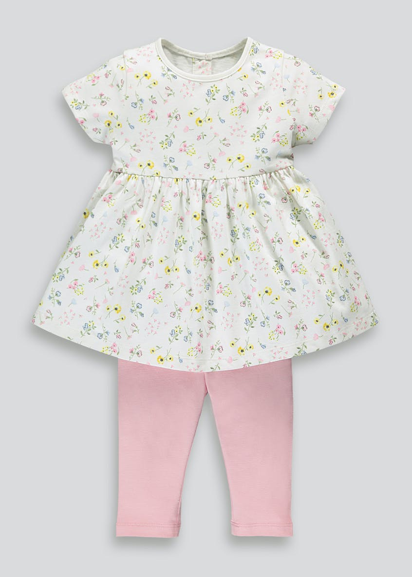 Girls Floral Tunic & Leggings Set (Newborn-18mths)