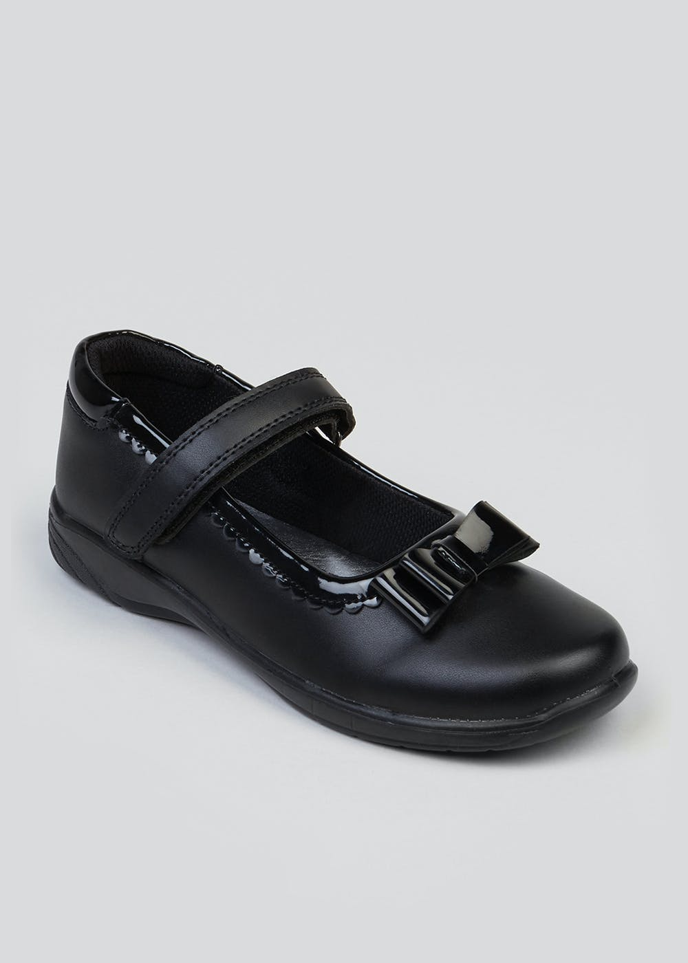 a91b5a2731 Girls Coated Leather School Shoes (Younger 8-Older 3) – Black – Matalan