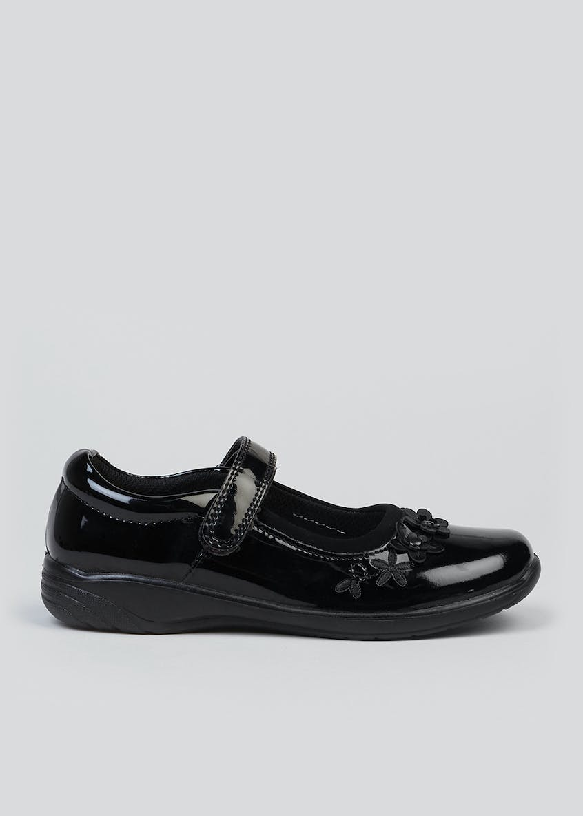 Girls Coated Patent Leather School Shoes (Younger 8-Older 3)