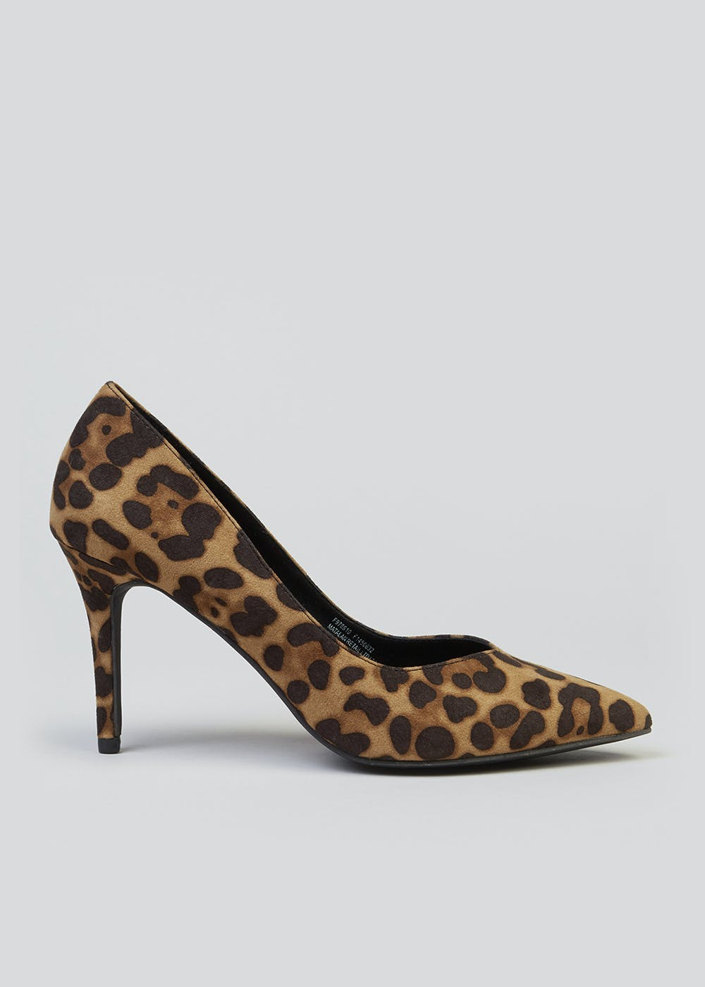 Leopard Print Pointed Court Shoes