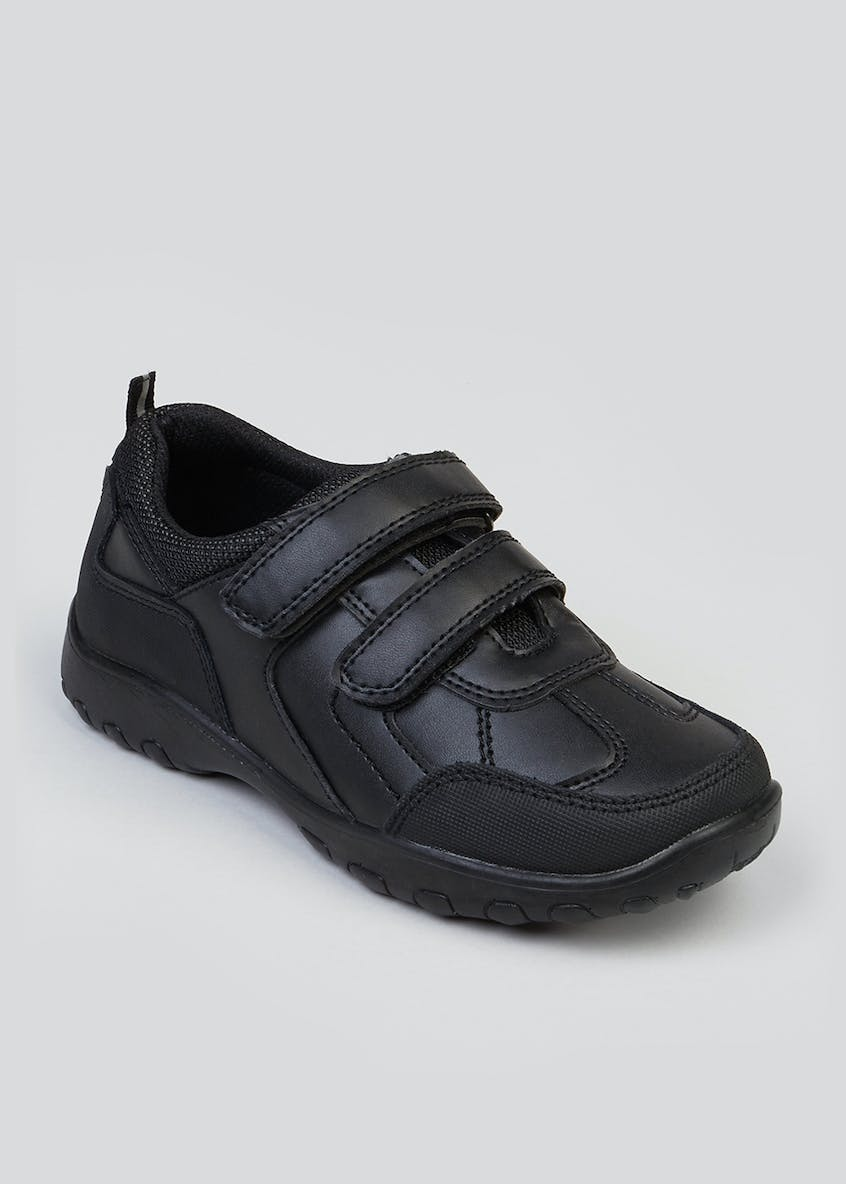 Boys Coated Leather School Shoes (Younger 6-Older 6)