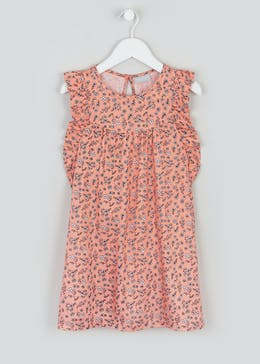 Girls Floral Viscose Dress (4-13yrs)